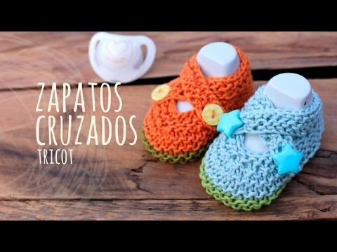 Tutorial Zapatos Bebé Cruzados Tricot | Dos agujas - YouTube