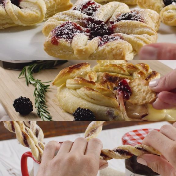 Rich and buttery with just the right amount of sweet, these three easy-to-make recipes combine two of our favorite things – authentic Bonne Maman Preserves and light and flaky puff pastry, perfect for an easy and impressive Thanksgiving treat.