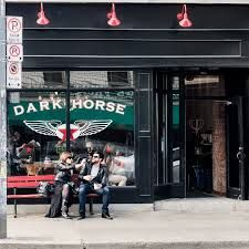 Dark Horse Espresso Bar. Having already 6 locations across the GTA, Dark House has proven themselves to its loyal customers with their great tasting espresso.
