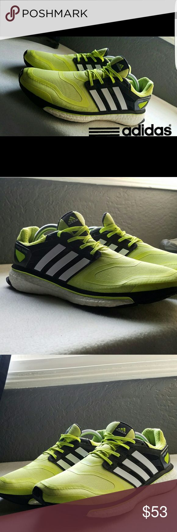 Adidas Energy Boost Hello, Selling a pair of Energy Boost Adidas, they are still in very nice conditions. No tears anywhere! Minor dirt along the front area but it should just wipe off. Adidas boost line are amazing and honestly one of the best shoes out right now. Making room in my closet, only reason im selling. Cheers adidas Shoes Athletic Shoes