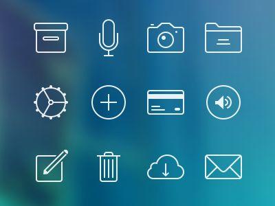 App icons, iOS 7-ish  by Radu Ceucă
