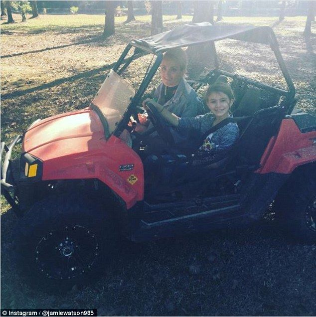 Accident: It has been claimed that Jamie Lynn Spears' daughter Maddie, eight, was too young to be in her ATV which recently crashed, as the manufacturer states a minimum age of 10