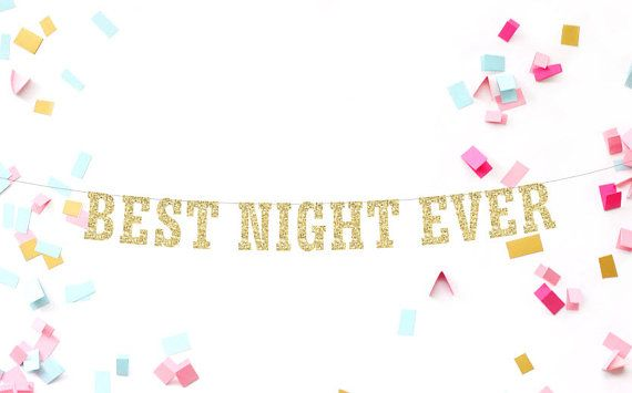 Best Night Ever Banner Girls Night Out by MailboxHappiness on Etsy