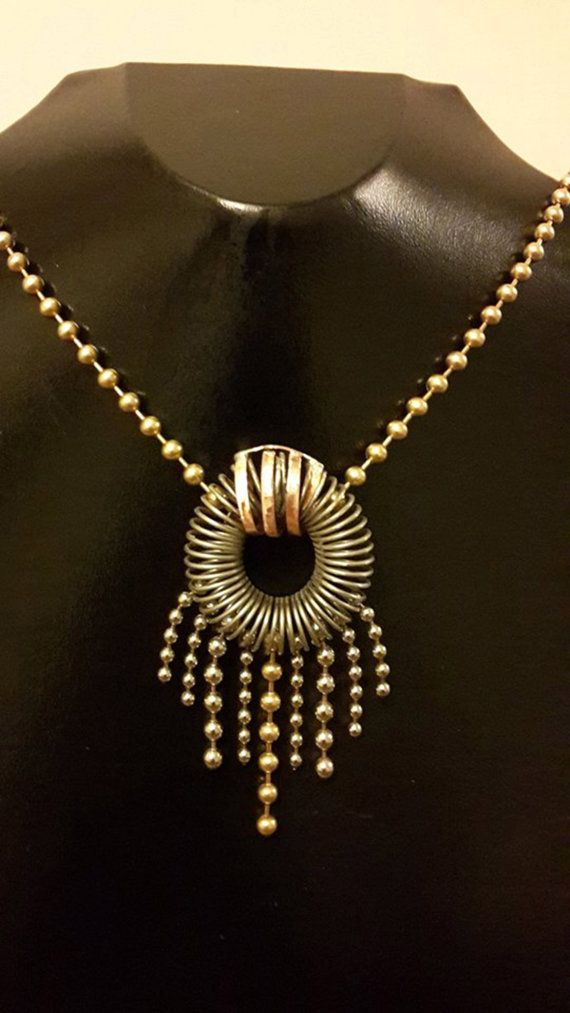 BALLCHAIN FANCY / Necklace by CEKSJUNK on Etsy