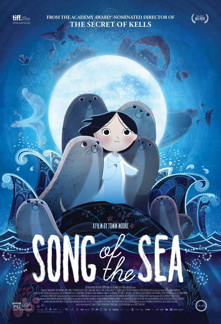 Song of the Sea (2014) de Tomm Moore (http://ultracuerpos.com/fichas/song-of-the-sea-2014-tomm-moore/) #Película #TommMoore #Poster