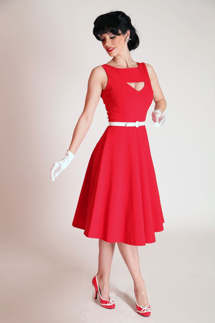 Megan Circle Red | Bettie Page Clothing