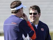 Gus Malzahn and Will Muschamp are learning from each other. They both agreed the Tigers needed to crank things up a notch in spring practices in order to get better following a disappointing 8-5 season, which ended with a mass exodus of starters and Muschamp's arrival as defensive coordinator.