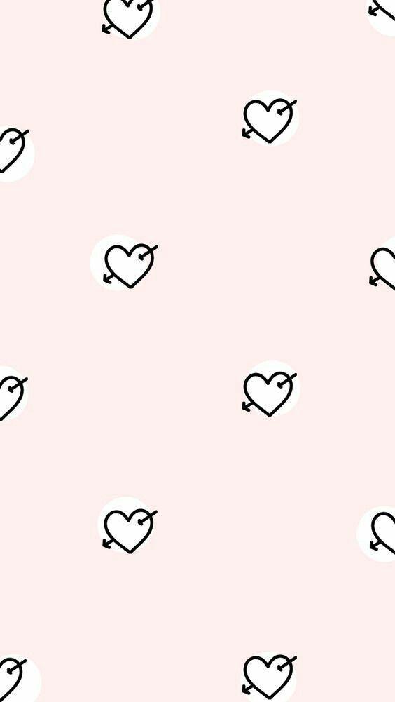 Simple Heart And Arrow Cute Wallpaper Backgrounds Cellphone Wallpaper Mobile Wallpaper