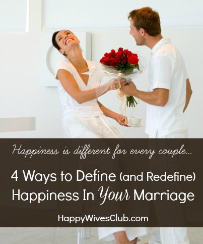 There are many ways to be happy in marriage. But what does that really mean? Here are 4 ways you and your spouse can define happiness in marriage.
