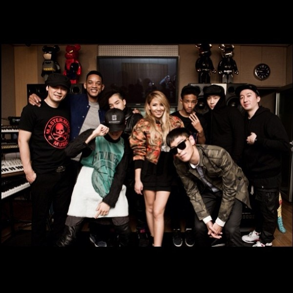 G Dragon, CL and the YG Family Meet Will Smith and Jaden Smith