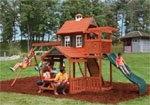 .Palisade Wooden Swing Set