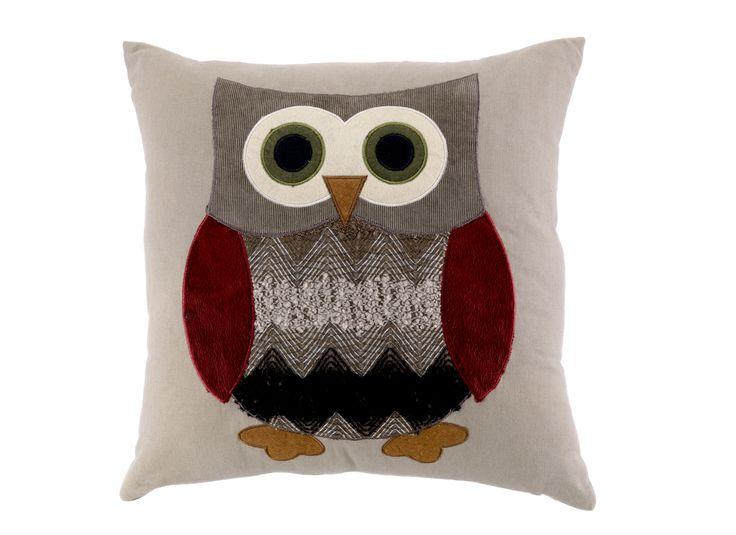 by Sainsbury's Owl Applique Cushion 43x43