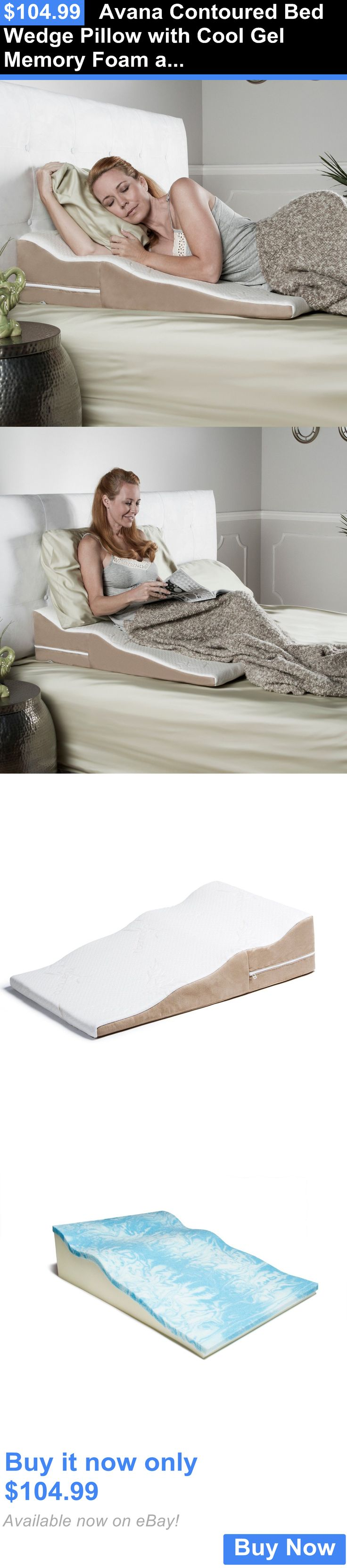 Wedges and Bed Positioners: Avana Contoured Bed Wedge Pillow With Cool Gel  Memory Foam And