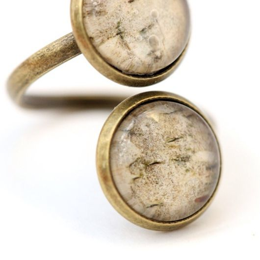 Двойное кольцо с березовой начинкой