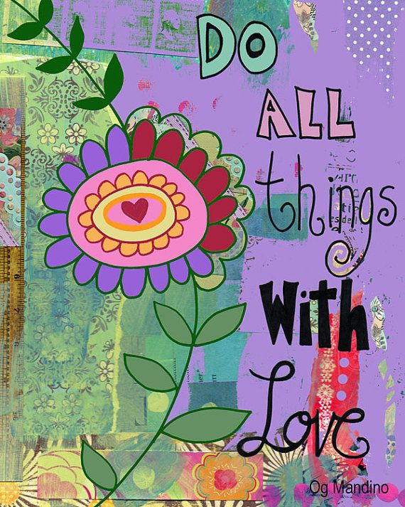 Colorful and Inspirational Floral Collage Art by BethNadlerArt, $15.00