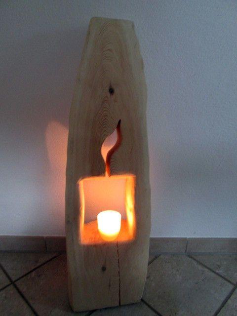 Nr.9 Baumstamm Kiefer 98cmx23cmx19cm Deko Säule Holz Holzsäule Windlicht