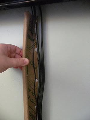 free DIY flat screen TV cord cover