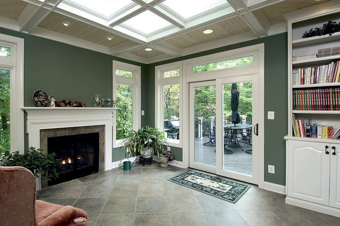 11 Best Ideas About Sunroom With Fireplace On Pinterest