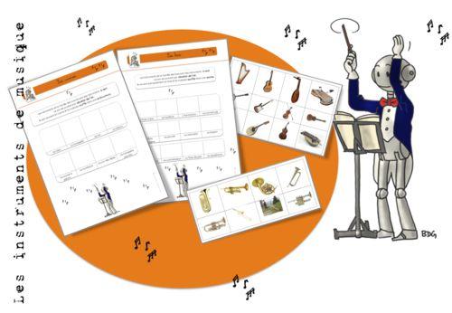Les instruments de musique : exercices