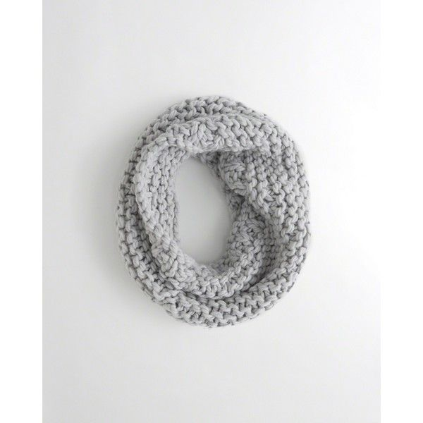 Hollister Chunky Knit Infinity Scarf ($25) ❤ liked on Polyvore featuring accessories, scarves, light grey, chunky knit scarves, infinity scarves, hand knitted scarves, tube scarves and thick knit infinity scarf