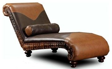 Rustic Denver Chaise - transitional - Indoor Chaise Lounge Chairs - ivgStores