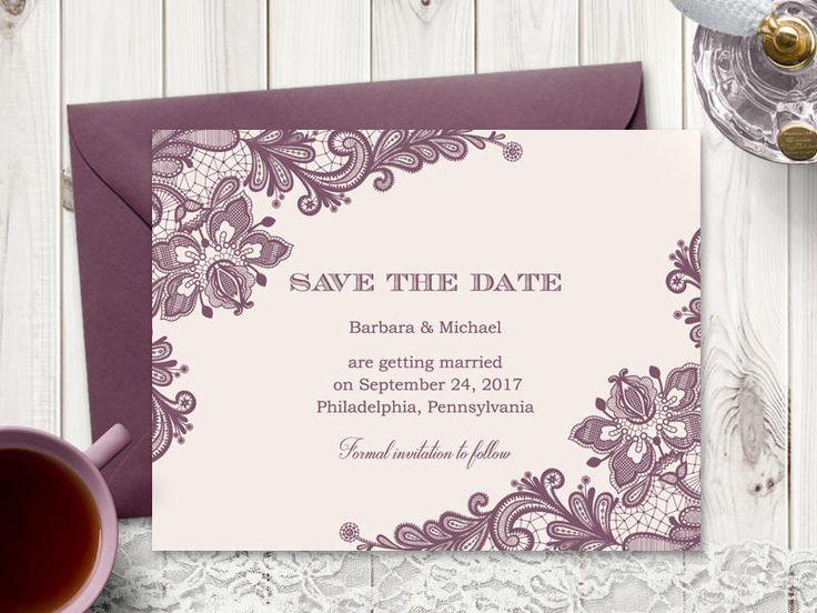 Best Wedding Invitation Templates Vintage Lace Images On