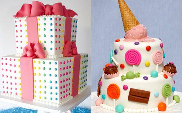Festa infantil em casa Faça você mesma - bolo infantil