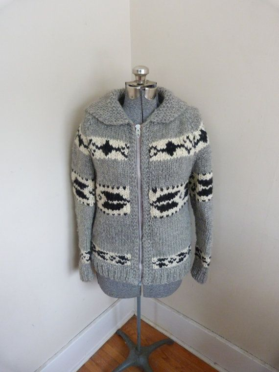 Vintage Cowichan Sweater Fitted 1970's Wool by RavishingRetro, $80.00