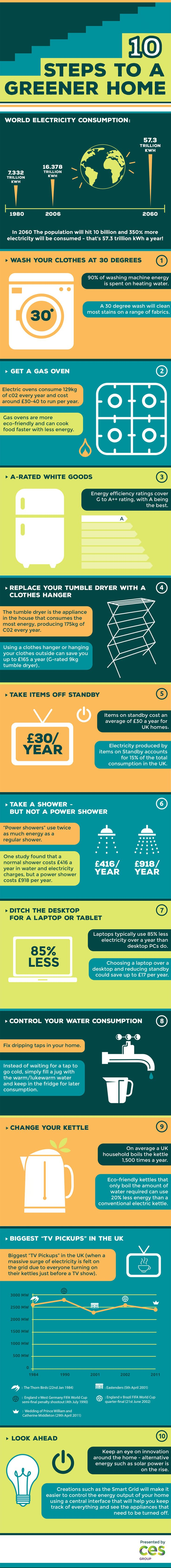 INFOGRAPHIC: 10 ways to make your home more green