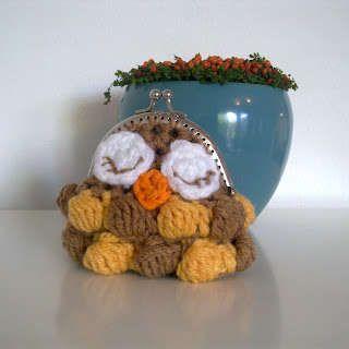 owl crochet coin purse