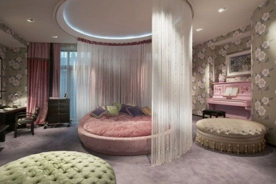 fascinating kids bedroom decorating ideas | Elegant Kids Room Design Ideas with Round Bed and ...
