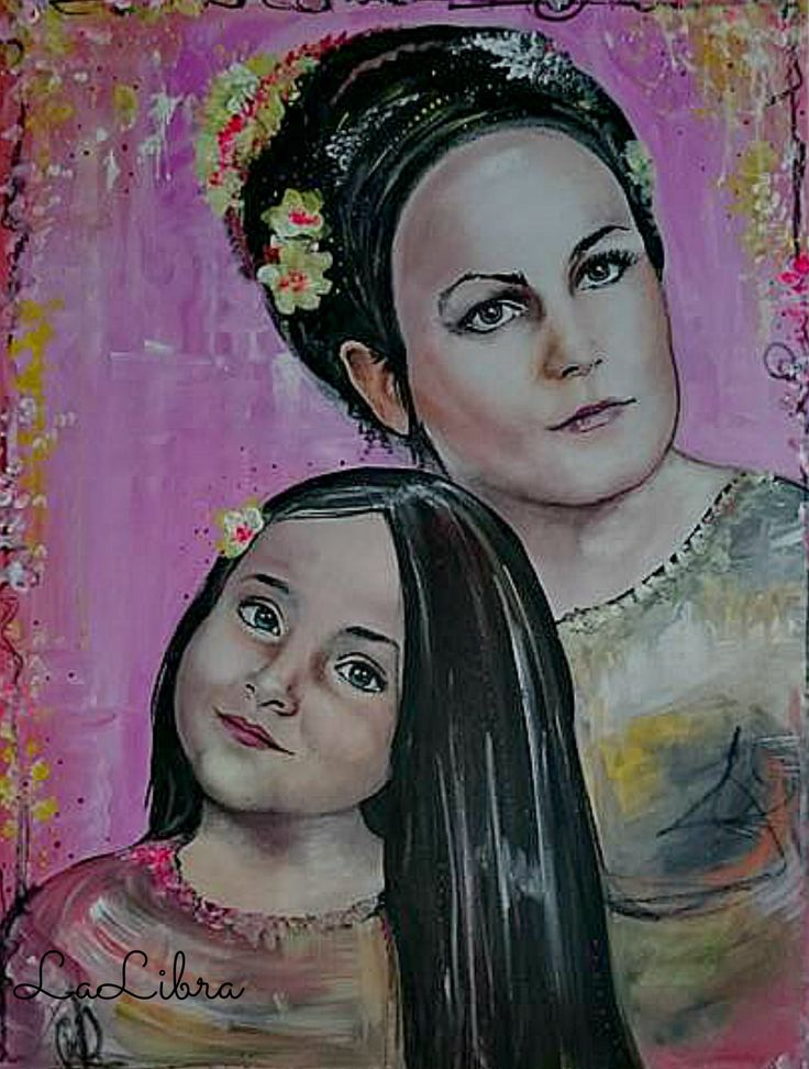 Portét-matka+s+dcérou+Portrét+dámy+s+dcérkou,+vznikol+kombináciou+techník+pastel+a+akryl+na+prvotriedne+maliarske+plátno+zo+100%+bavlny+s+gramážou+320g/m2.+Táto+romanticky+ladená+maľba+je+fixovaná+vysoko+kvalitným+lakom.+Veľkosť+obrazu+je+80x60+cm,+ale+moje+maľby+sú+dostupné+vo+všetkých+veľkostiach.+Uvedená+cena+je+za+túto+konkrétnu+veľkosť