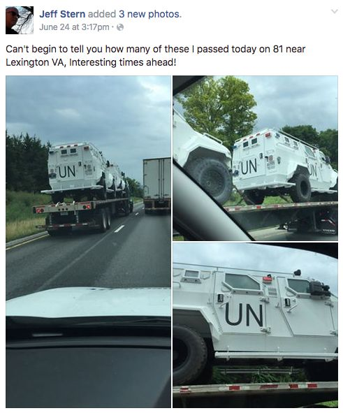 Fact Check Un Vehicles And Trucks Spotted In Southern States No Not Exactly Conspiracy