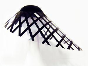 Black and white Visor hat