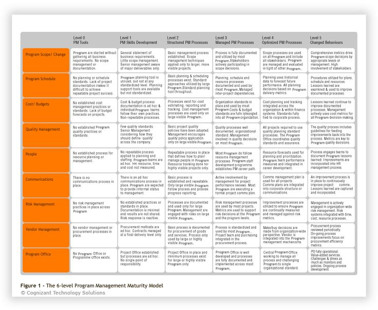 The 6-level Project Management Maturity Model