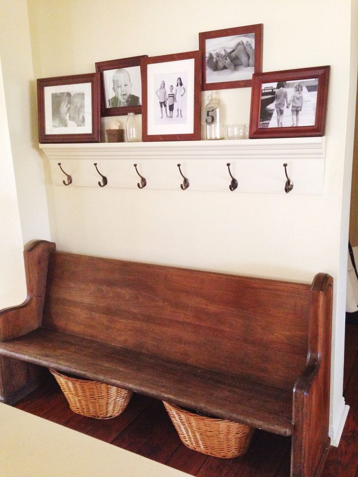I Like The Old Church Bench In The Mudroom Idea.