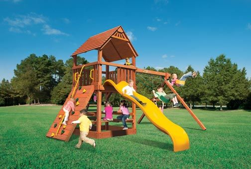 Child Life Wooden Swing Sets and Playsets in the San Francisco Bay Area