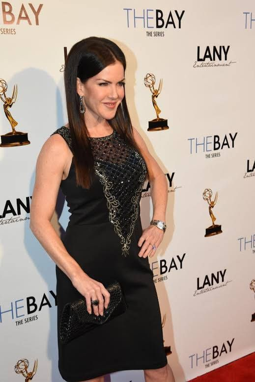 #Emmy Winning actress Kira Reed Lorsch #TheBay Series looks #STUNNING in this SUE WONG cocktail gown! #Gorgeous #Fashion xxxSW