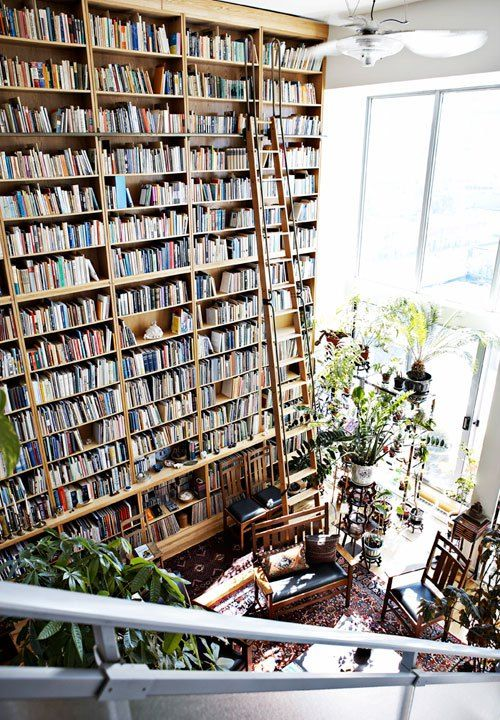 """Wall of Books, Toronto, Canada."" Note to self...make sure future home has REALLY tall ceilings. :)"