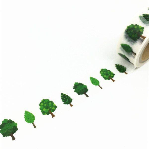 Washi Tape, Kawaii Washi Tape, Cute Washi Tape, Green Forest Washi Tape by PokemonGarden on Etsy https://www.etsy.com/listing/232326702/washi-tape-kawaii-washi-tape-cute-washi