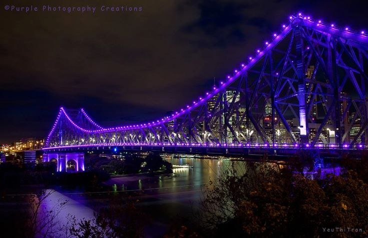 Yeu Thi Tran Brisbane Story Bridge, Brisbane, Queensland, Australia. Image captured & ©Yeu Thi Tran. https://www.facebook.com/pages/Purple-Photography-Creations/148743085221883