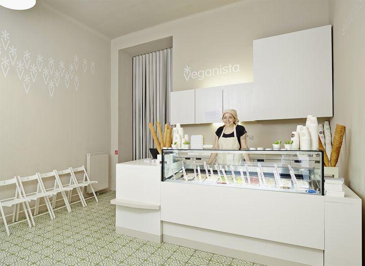Роскошный интерьер магазина мороженого Veganista