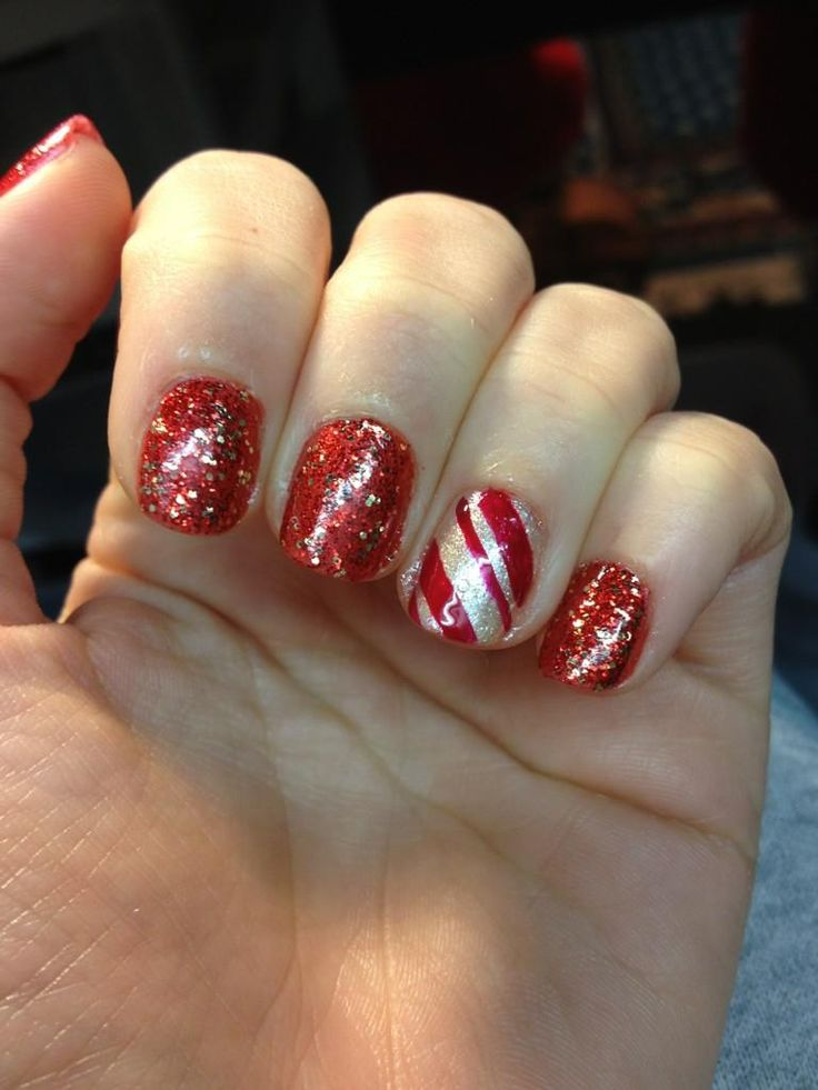 The 180 best Holiday Nails! images on Pinterest   Nail design, Nail ...
