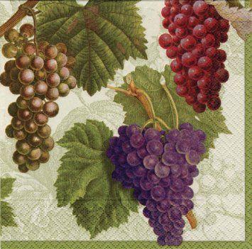 caspari napkins - grapes