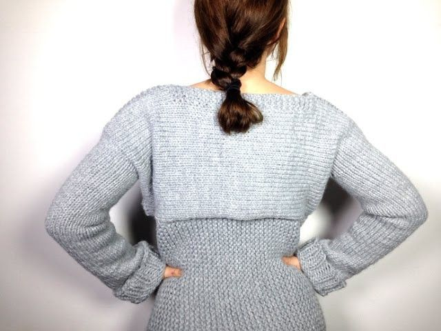 Knitting Sweater Tutorial : How to loom knit a sweater pullover jersey diy tutorial