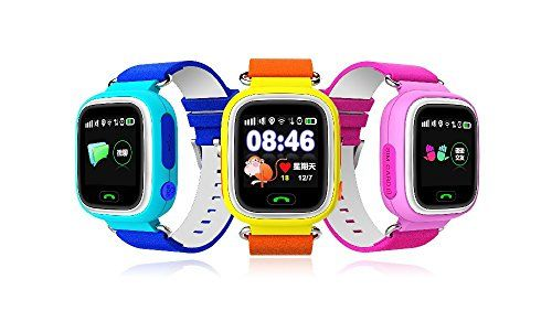 Aiceary Newest Multicolor Touch Screen GPS Smart Watch Wristwatch SOS Location Finder Locator Tracker Kid Safe Monitor Smartwatch Q90   Language: Spanish,Polish,French,Turkish,Portuguese,English,Russian,GermanFunction: Answer Call,Message Reminder,Remote Control,Dial Call,Call Remi