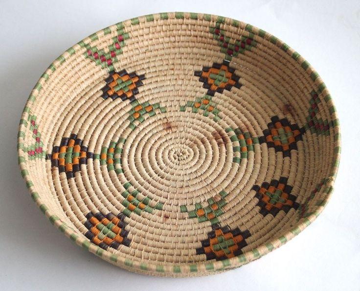 Indian Basket Weaving Kits : Vintage native american indian basket