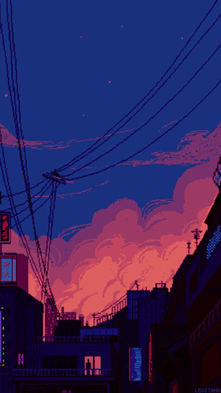 Tagged with blue, sky, sea, anime, aestheyic; lockscreens   Tumblr   Pixel art background, Art wallpaper