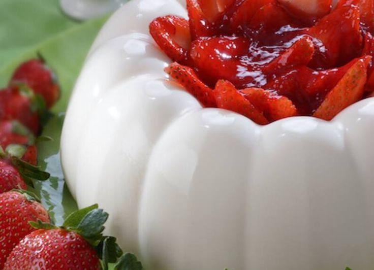 Gelatina yogurt fresa