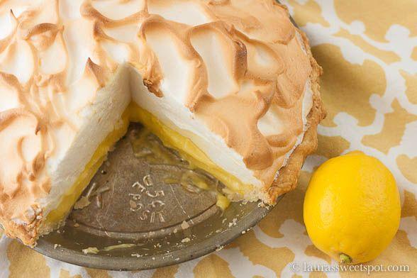 Lemon Meringue Pie from Laura's Sweet Spot: Lemonmeringuepie2, Lemon Meringuepie2, Lemonade Pies, Desserts Yum, Lemon Meringue Pies, Laura Sweet, Laura S Sweet, Sweet Spots, Favorite Recipes